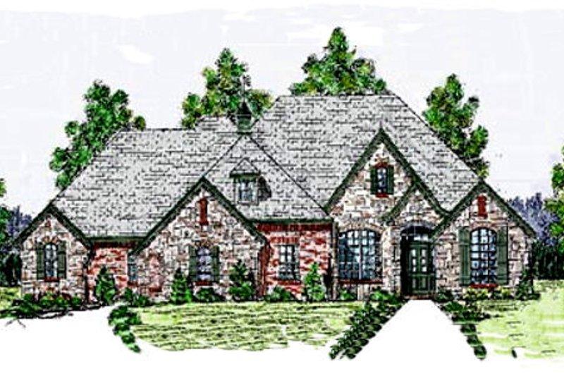 House Plan Design - European Exterior - Front Elevation Plan #52-121