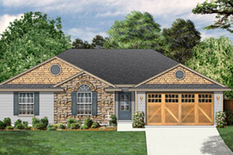 Traditional Exterior - Front Elevation Plan #84-454 - Houseplans.com