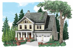 Craftsman Exterior - Front Elevation Plan #927-530