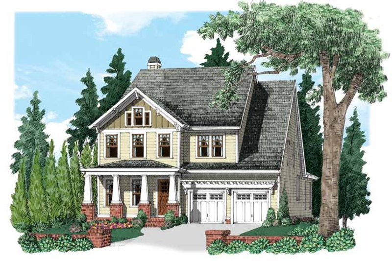 Craftsman Exterior - Front Elevation Plan #927-530 - Houseplans.com