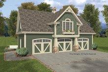 Craftsman Exterior - Front Elevation Plan #56-675