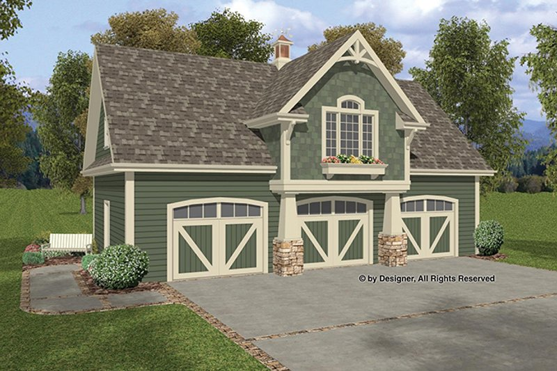 Craftsman Exterior - Front Elevation Plan #56-675