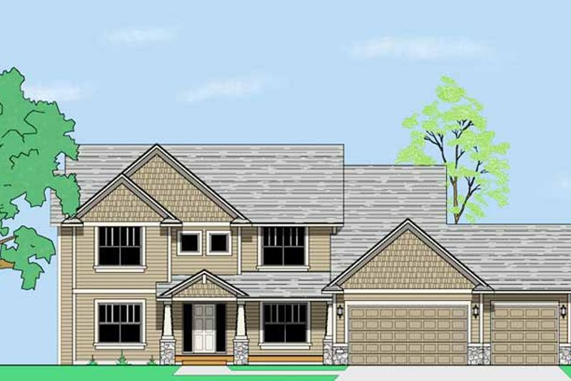 House Plan Design - Craftsman Exterior - Front Elevation Plan #981-6