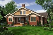 Craftsman Style House Plan - 2 Beds 2 Baths 1657 Sq/Ft Plan #132-197 Exterior - Rear Elevation