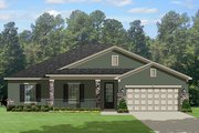 Traditional Style House Plan - 3 Beds 2 Baths 1959 Sq/Ft Plan #1058-118 Exterior - Front Elevation
