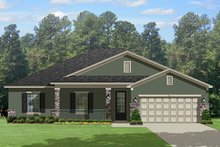 House Plan Design - Traditional Exterior - Front Elevation Plan #1058-118