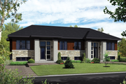 Contemporary Style House Plan - 4 Beds 2 Baths 1800 Sq/Ft Plan #25-4395 Exterior - Front Elevation