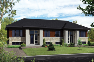 Contemporary Exterior - Front Elevation Plan #25-4395