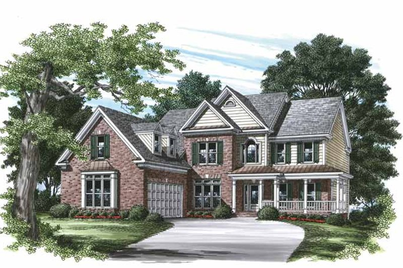 Country Exterior - Front Elevation Plan #927-462