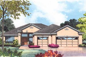 Mediterranean Exterior - Front Elevation Plan #1015-21