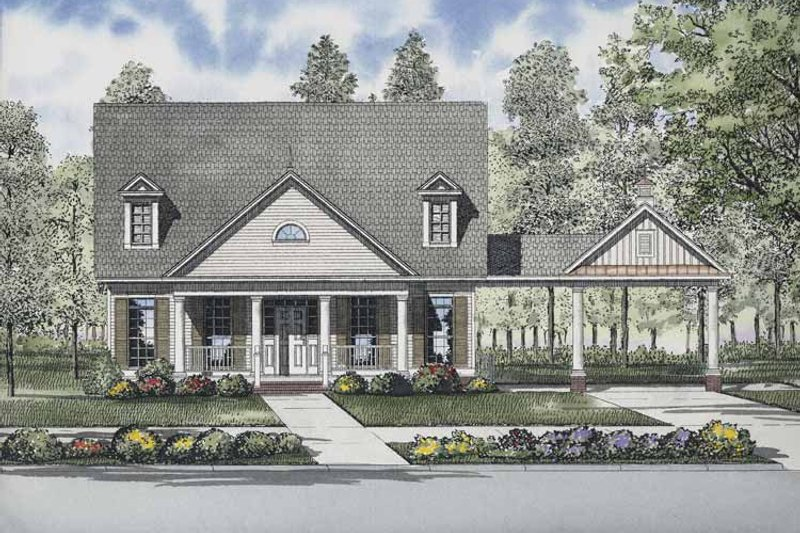 Country Exterior - Front Elevation Plan #17-2868 - Houseplans.com