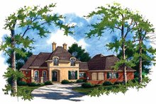 Country Exterior - Front Elevation Plan #45-387