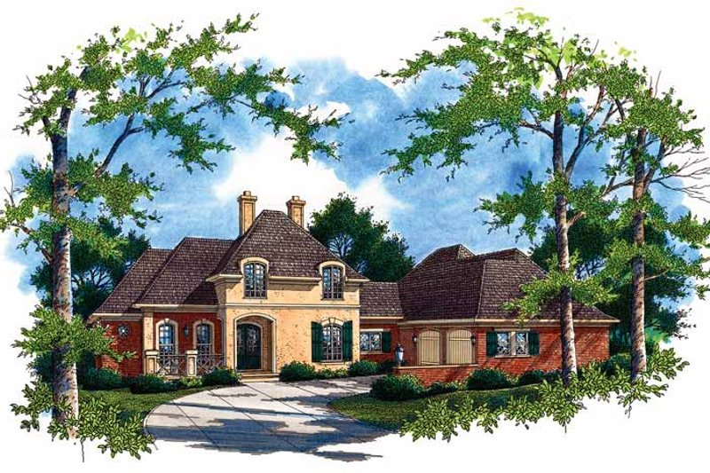 Home Plan - Country Exterior - Front Elevation Plan #45-387