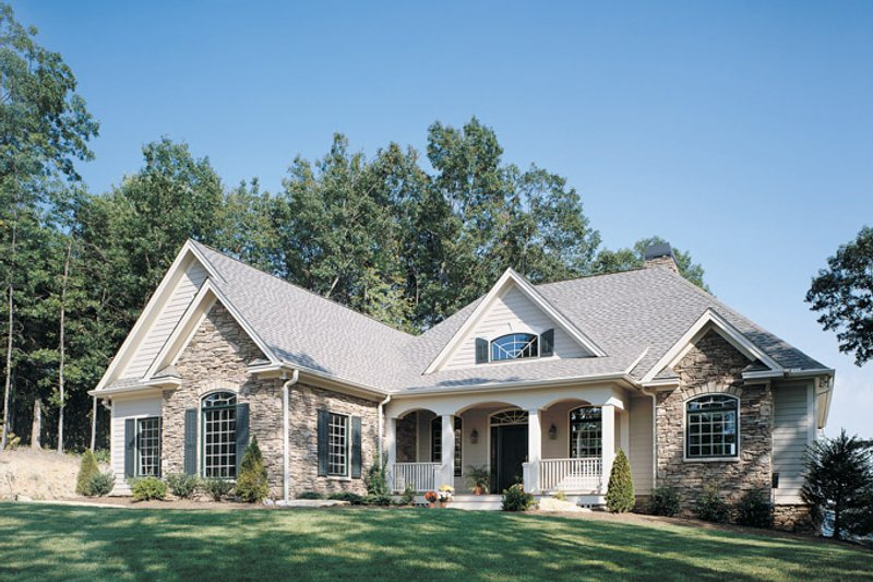 Country Exterior - Front Elevation Plan #929-494