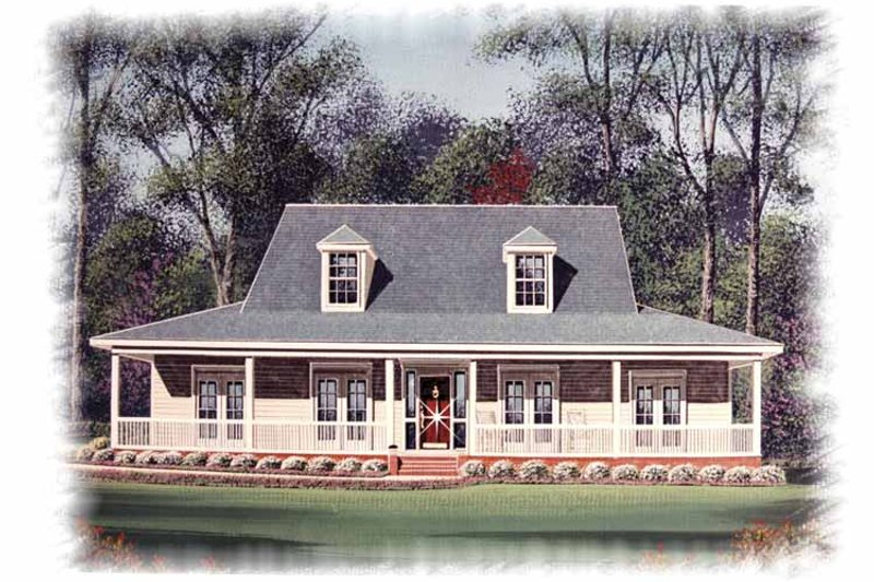 Country Exterior - Front Elevation Plan #15-330
