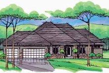 House Plan Design - European Exterior - Front Elevation Plan #51-977