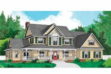 Country Exterior - Front Elevation Plan #11-270