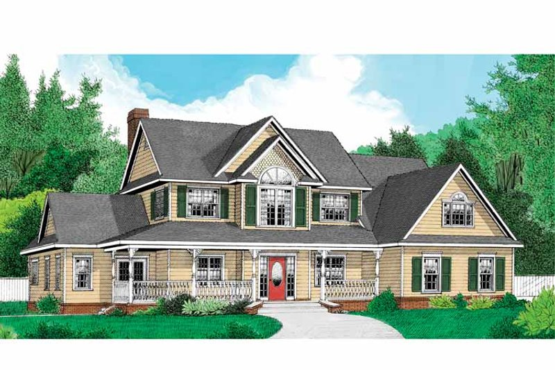 Country Exterior - Front Elevation Plan #11-270 - Houseplans.com