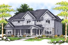 Home Plan - Traditional Exterior - Front Elevation Plan #70-635