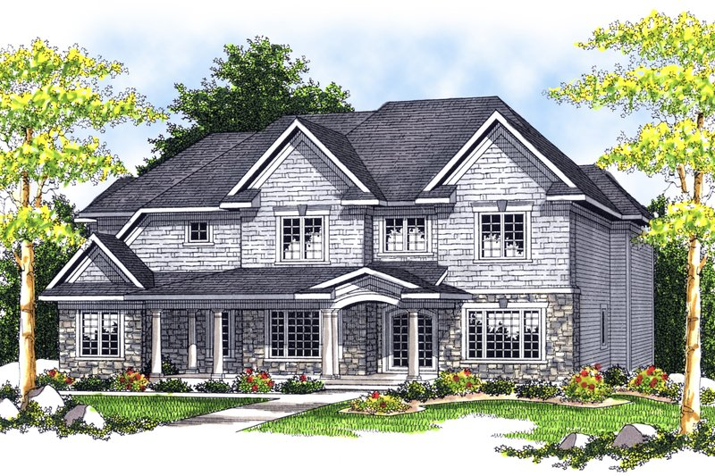 Dream House Plan - Traditional Exterior - Front Elevation Plan #70-635