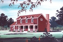 Dream House Plan - Country Exterior - Other Elevation Plan #45-318