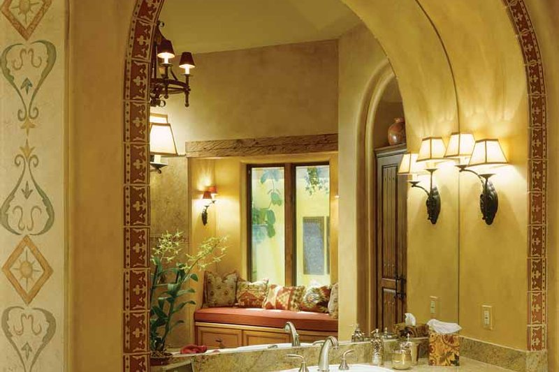 Mediterranean Interior - Bathroom Plan #930-97 - Houseplans.com