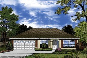 Architectural House Design - European Exterior - Front Elevation Plan #417-847