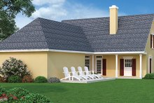 Home Plan - Traditional Exterior - Rear Elevation Plan #45-490