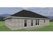 House Plan Design - Traditional Exterior - Rear Elevation Plan #44-204