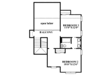 Craftsman Floor Plan - Upper Floor Plan Plan #991-32