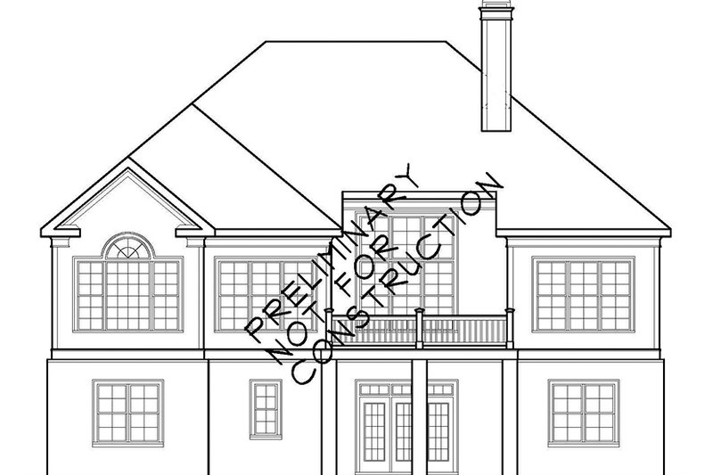 Country Exterior - Rear Elevation Plan #927-904 - Houseplans.com