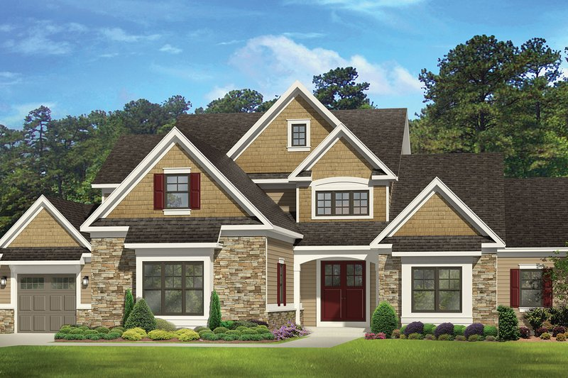 Colonial Exterior - Front Elevation Plan #1010-112