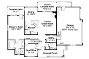 Country Style House Plan - 3 Beds 2.5 Baths 1948 Sq/Ft Plan #124-882 Floor Plan - Main Floor Plan