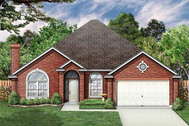 Ranch Exterior - Front Elevation Plan #84-645 - Houseplans.com