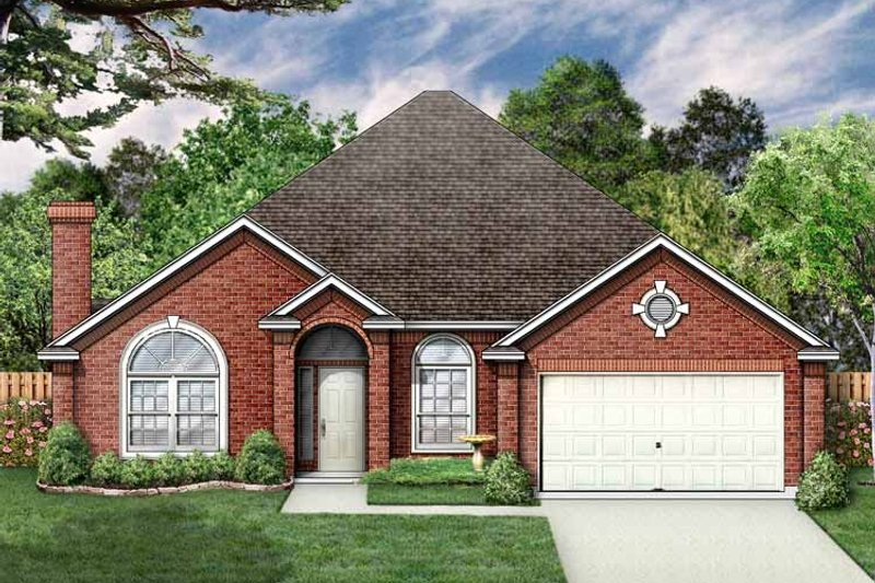 Ranch Exterior - Front Elevation Plan #84-645