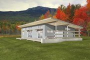 Modern Style House Plan - 3 Beds 2 Baths 1356 Sq/Ft Plan #497-57 Exterior - Front Elevation