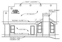 Craftsman Exterior - Rear Elevation Plan #20-1235