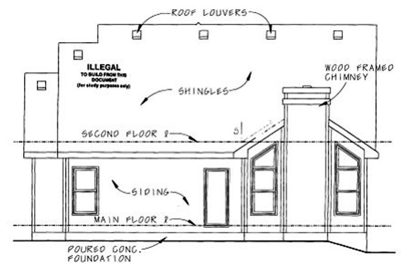 Craftsman Exterior - Rear Elevation Plan #20-1235 - Houseplans.com
