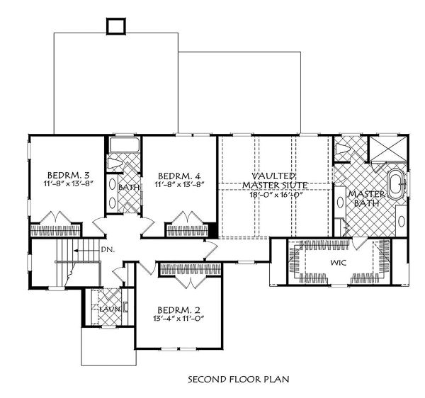 Traditional Floor Plan - Upper Floor Plan Plan #927-1005