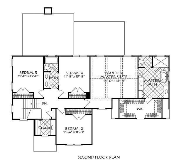 House Plan Design - Traditional Floor Plan - Upper Floor Plan #927-1005