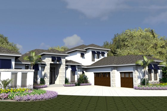 Contemporary Exterior - Front Elevation Plan #548-23