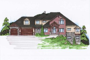 Colonial Exterior - Front Elevation Plan #5-436