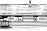 Ranch Style House Plan - 3 Beds 2 Baths 1314 Sq/Ft Plan #126-111 Exterior - Rear Elevation