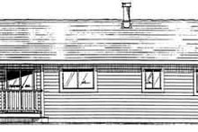 Architectural House Design - Ranch Exterior - Rear Elevation Plan #126-111