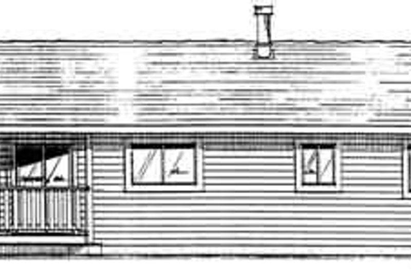 Ranch Exterior - Rear Elevation Plan #126-111 - Houseplans.com