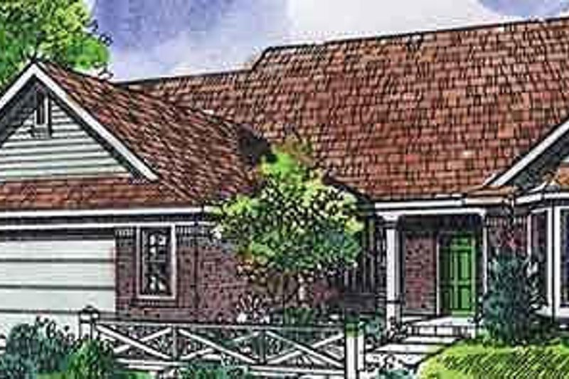 Traditional Exterior - Front Elevation Plan #320-475 - Houseplans.com