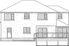 Traditional Exterior - Rear Elevation Plan #126-134