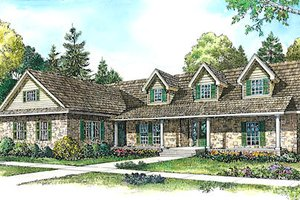 Country Exterior - Front Elevation Plan #140-126