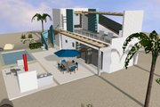 Beach Style House Plan - 3 Beds 3 Baths 3066 Sq/Ft Plan #535-23 Exterior - Other Elevation