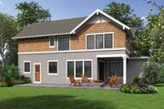Craftsman Style House Plan - 3 Beds 2.5 Baths 2976 Sq/Ft Plan #48-1002 Exterior - Rear Elevation